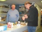 11-4-14 Jerry Johnston watches Paul Dugas painting project.jpg