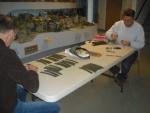 11-11-14 b Paul Dugas, Peter Cole working on track.jpg