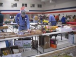 Tom Coulombe, Larry Cannon, dealers & modelers set up.jpg